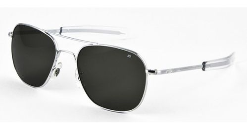 Óculos AO Original Pilot Silver - Color Correct Grey Polycarbon Polarized - 52mm