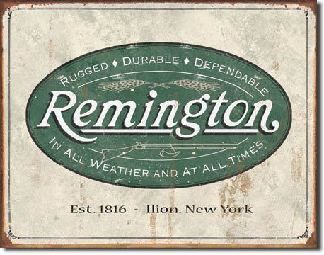 Placa Decorativa Desperate Remington Logo