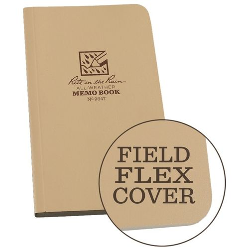 "Caderno Rite in the Rain Waterproof 6""x3,5"" Tan"