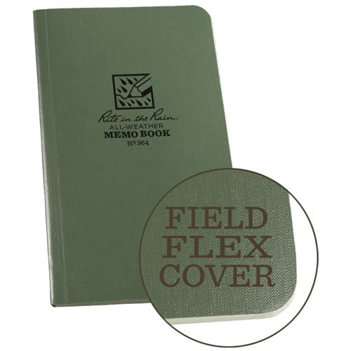"Caderno Rite in the Rain Waterproof 6""x3,5"" Green"