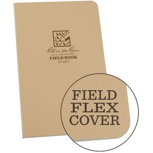 "Caderno Rite in the Rain Waterproof 7""x4,5"" Tan"