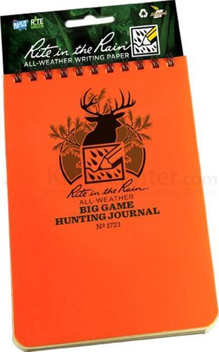 "Bloco Rite in the Rain Waterproof 4""x6"" Big Game Hunting Jornal"