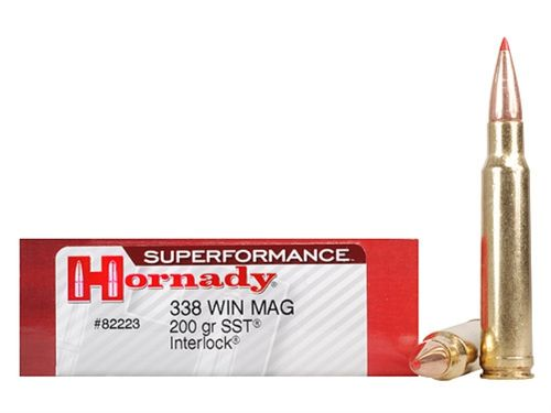 Caixa 20 Munições Hornady Superformance Cal.338Win. Mag. SST 200gr.