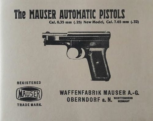 Livro The Mauser Automatic Pistols