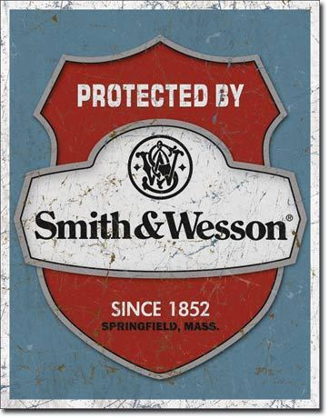 Placa Decorativa Desperate Protected By Smith & Wesson