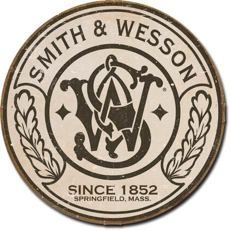 Placa Decorativa Desperate Smith & Wesson Round