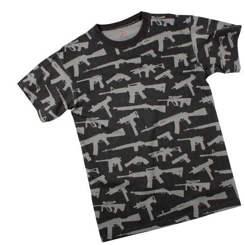 T-Shirt Rothco Vintage Guns Black