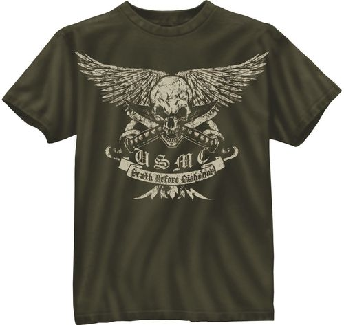 T-Shirt Rothco USMC Death Before Dishonor
