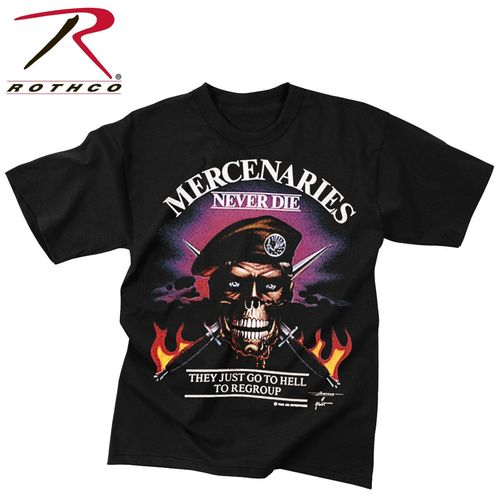 T-Shirt Rothco Mercenaries Never Dies