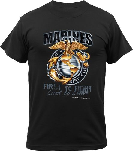 T-Shirt Rothco Marines Black