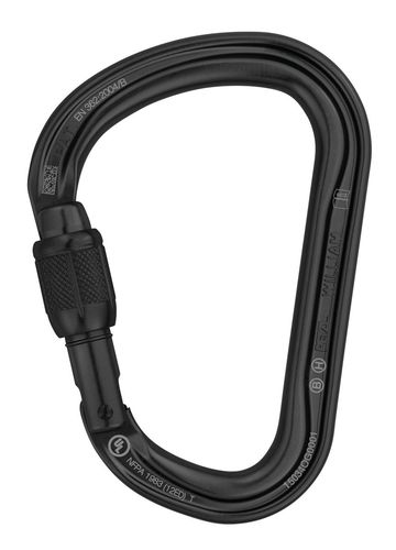 Mosquetão Petzl WILLIAM Screw-Lock Black